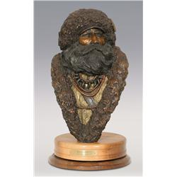 "Jerry Snodgrass, bronze, 1990, 19"" x 11"" x 12"", Beaverman"
