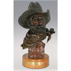 "Jerry Snodgrass, bronze, 1991, 13 1/2"" x 6"" x 5"", Buck"