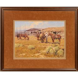 Jim C. Norton, oil on canvas. Cowboy Artists of America