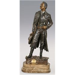 "David Manual, bronze, 41"" x 16"" x 12"", Frontier Marshal. Impressive size!"
