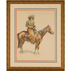 Frederic Remington, chromolithograph on paper, 1901