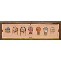 7 Miniature Northern Plains Medicine Shields, 20th century