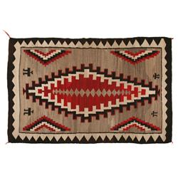 "Navajo Textile, Klagetoh, 87"" x 57"", C. 1940s, excellent condition"
