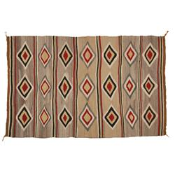 "Navajo Textile, Red Mesa Area, 60"" x 38"", C. 1940s, excellent condition"