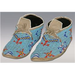 Northern Cheyenne Beaded Moccasins, C. 1920