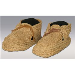 Eastern Indian Moccasins, made from corn husks