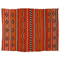 "Navajo Wearing Blanket, 67"" x 50"", 19th century, fine condition"