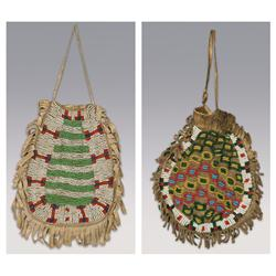 Pair of Sioux Beaded Bags, 1890s.