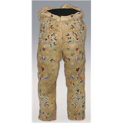 Santee Sioux Beaded Men's Pants, 19th century