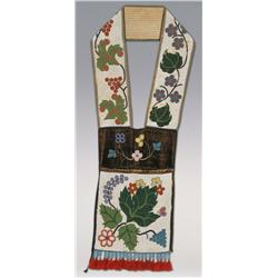 Chippewa Bandoleer Bag, classic solid beaded bag, C. 1880s