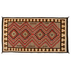 "Navajo Textile, Red Mesa Area, 113"" x 61"", C. 1930s, excellent condition"