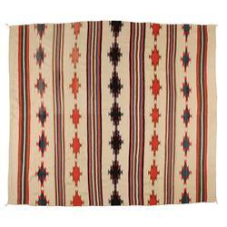 "Navajo Weaving, 98 1/2"" x 86"", C. 1940s, very fine condition"