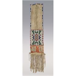 Sioux Quilled and Beaded Bag, 19th century