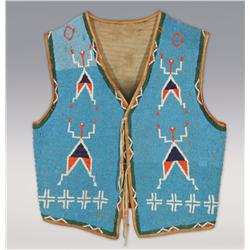 Sioux Man's Beaded Vest, fine condition
