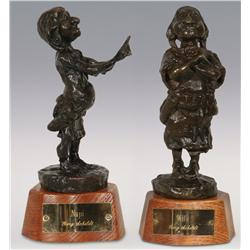 "Gary Schildt, Two Bronzes, Napi, 8"" and Wife, 9"""