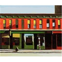 Hopper  Early Sunday Morning  20x24 Signed Ltd Ed Oil on Canvas