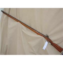 LAZARO LAZARNI FLINT LOCK RIFLE, WALL HANGER,  UNUSUAL MARKINGS ON STOCK AND BARREL (PRE98)