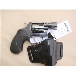 S&W MODEL 36, EARLY PIN BARREL, HAS AFTER MARKET  GRIPS AND A HOLSTER (H)A4568, J790888