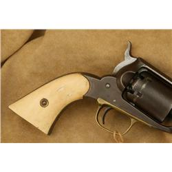 REMINGTON 1861 NAVY, 36 CAL, BEATIFUL ANTIQUE  IVORY GRIPS, BROWN PATINA COVERS 80%, GOOD OVERALL  (