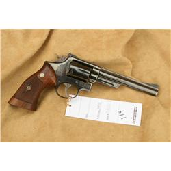 S&W MODEL 53, IN 22 JET/22 MAG, COMES WITH 6  INSERTS FOR 22 MAG, EARLY PIN BARREL, 90% OVERALL,  A