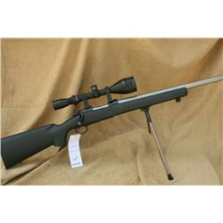 WINCHESTER MODEL 70 TARGET, 22-250 CAL FACTORY  HEAVY BARREL, WITH SCOPE 3.5X10X50 AND BIPOD,  GRAPH