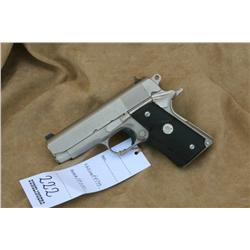 COLT OFFICERS MODEL, 45 ACP CAL,  BRUSHED  STAINLESS FINISH, AS NEW NO BOX, (H)A4749, FA10210