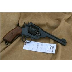 ENFIELD MK VI IN 455  CAL, EXCELLENT OVERALL, 6 IN  BARREL (H)A4758, A7629