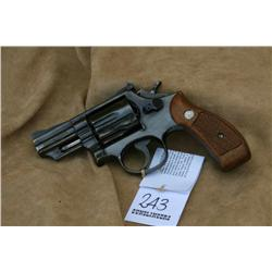 S&W MODEL19-3, 357 CAL, EARLY PIN BARREL, SOME  HOLSTER WEAR AT MUZZLE END, VG+ OVERALL (H)A4531,  5