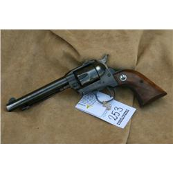"RUGER SINGLE SIX ""3 SCREW"" MODEL 5.5 IN BARREL,  SHOWS HOLSTER WEAR, 22 LR ONLY, FIXED SITES,  (H)A4"