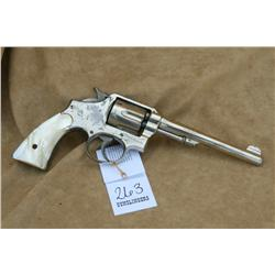 S&W EARLY HAND EJECT IN 38 CAL, FACTORY NICKLE  FINISH, AND MOTHER OF PEARL GRIPS, (H)A4640,  137476