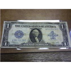 1923 One Dollar  Horse Blanket  Silver Certificate