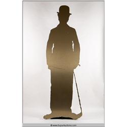 Gold Silhouette of Man