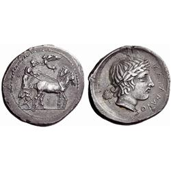Greek coins. Catana. Tetradrachm ca 415-410, AR 16.35g.