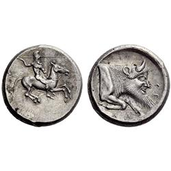 Greek coins. Gela. Didrachm ca 490-475, AR 8.73g.