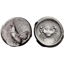 Greek coins. Himera. Didrachm ca 483-472, AR 8.61g.