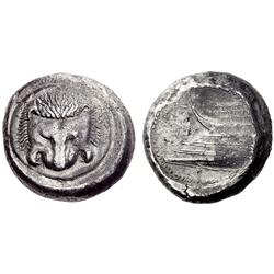 Greek coins. Zankle-Messana. Tetradrachm ca 491-490, AR 16.81g.