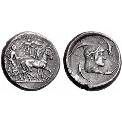 Greek coins. Syracuse. Tetradrachm ca 485-480, AR 17.00g.
