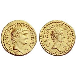 Roman Rep. M. Antonius and Octavian. Aureus 39, AV 8.09g.