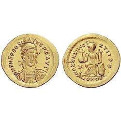 Roman Rep. Theodosius II. Solidus 441-450, AV 4.25g.