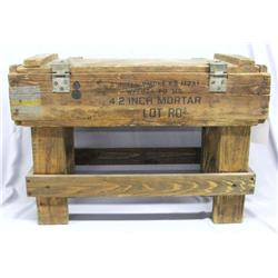 Vintage Wood Mortar Box Table MUST BE PICKED UP