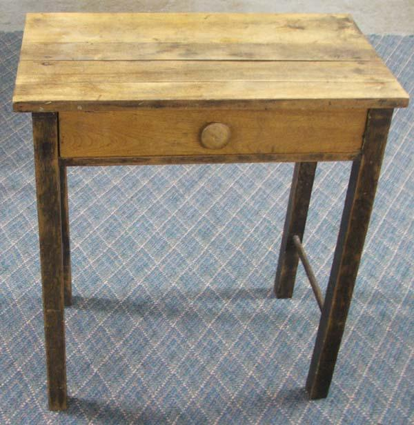 Small Primitive Wooden Desk MUST BE PICKED UP
