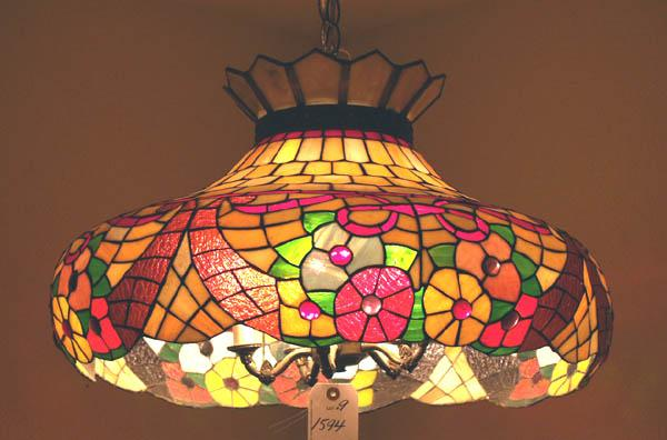 Vintage Stained Glass Hanging Lamp MUST BE PICKED UP. Loading Zoom