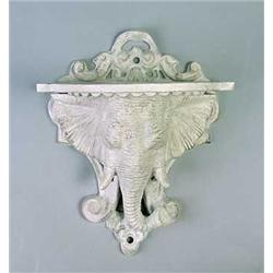 Cast Iron Elephant Wall Bracket