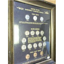 US Emergency Wartime Coinage Set (In Frame)