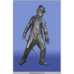 "Bronze Statue of Charlie Chaplin ""The Little Tramp"""