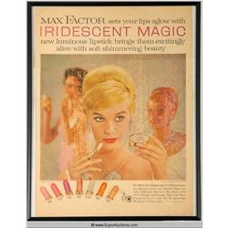 Iridescent Magic Lipstick Advertisement 1959 {Max Factor Collection}