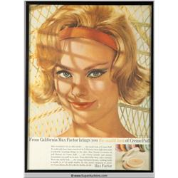 Crème Puff Make-Up Advertisement 1963 {Max Factor Collection}