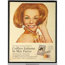 Coiffure Italienne Make-Up Advertisement 1965 {Max Factor Collection}