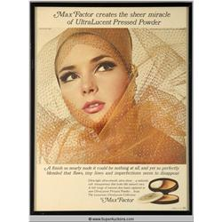 UltraLucent Pressed Powder Make-Up Advertisement 1966 {Max Factor Collection}