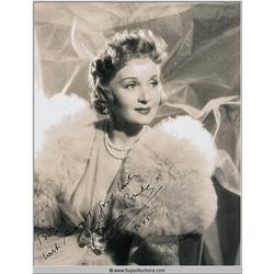 Photograph Original Autograph {Billie Burke}